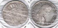 ESPAÑA FERNANDO VII 2 REALES 1820 MADRID PLATA SILVER W. HOJA BONITA - First Minting