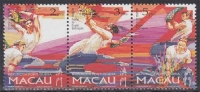 Macau MiNr. 913/15 ** Drachen-Festival Im 3er Streifen - 1999-... Chinese Admnistrative Region