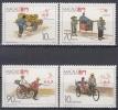 Macau MiNr. 583/86 ** Traditionelle Transportmittel - 1999-... Sonderverwaltungszone Der China
