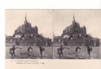 24487 -lot 12 Douze Cartes Carte Stereo Stereoscopique -mont Saint Michel France 50 Pecheur Crevettes -