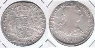 PERU ESPAÑA CARLOS III  8 REALES 1787 LIMA PLATA SILVER W - Perú