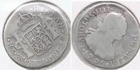 PERU ESPAÑA CARLOS IIII  2 REALES 1795 LIMA PLATA SILVER W - Perú