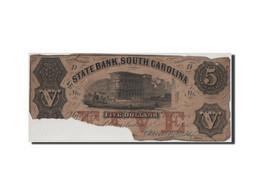 [#44672] Etats-Unis, Obsolètes, South Carolina, State Bank, 5 Dollars 3.3.1855 - Collections