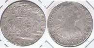 PERU ESPAÑA CARLOS IIII  8 REALES 1796 LIMA PLATA SILVER W - Perú