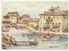 Centuri Dessin D Apres Aquarelle Originale De Robert Lepine - France