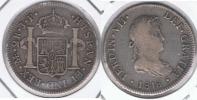 PERU ESPAÑA FERNANDO VII 2 REALES 1818 LIMA PLATA SILVER W2 - Perú