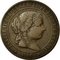 Monnaie, Espagne, Isabel II, 5 Centimos, 1866, TTB, Cuivre, KM:635.1 - [ 1] …-1931 : Royaume