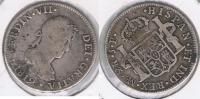 PERU ESPAÑA FERNANDO VII 2 REALES 1819 LIMA PLATA SILVER W - Perú