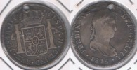 PERU ESPAÑA FERNANDO VII 4 REALES 1815 LIMA PLATA SILVER W - Perú