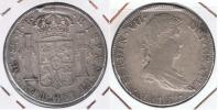 PERU ESPAÑA FERNANDO VII 8 REALES 1816 LIMA PLATA SILVER W - Perú