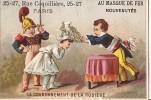 CHROMO AU MASQUE DE FER RUE COQUILLIERE A PARIS LE COURONNEMENT DE LA ROSIERE - Autres