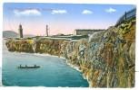 1920 Gibraltar Europa Lighthouse Pc Used Napoli Porto Estero Postmark To GB KGV Stamp To IOW - Gibraltar