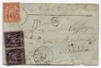 1880 - ENVELOPPE CHARGEE De NERAU (LOT ET GARONNE) Avec SAGE N° 70 & 89 - CACHET ORIGINE RURALE - Marcophilie (Lettres)