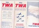 B1406 - AVIAZIONE - Brochure ORARI VOLI TRANSATLANTICI TWA 1975/76 - Monde
