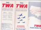 B1406 - AVIAZIONE - Brochure ORARI VOLI TRANSATLANTICI TWA 1975/76 - World