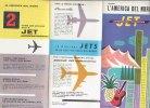 B1417 - AVIAZIONE - Brochure AIR FRANCE 1959 - JET INTERCONTINENTAL BOEING/AEREI/MAP - Pubblicità