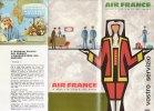 B1419 - AVIAZIONE - Brochure AIR FRANCE 1963/BOEING JET INTERCONTINENTAL/AEREI CARAVELLE/MAP - Pubblicità