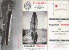 B1437 - Brochure ST.NAZAIRE - COSTRUZIONI NAVALI - COMPAGNIE GENERALE TRANSATLANTIQUE ARMATEUR DU PAQUEBOT  1961 - Barche