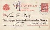 Hongrie Magyar Entier Postal Strasbourg Strasburg Elsass Alsace 1909 - Postwaardestukken