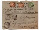 1900 - ENVELOPPE CHARGEE De BORDEAUX (GIRONDE) Avec SAGE - Marcophilie (Lettres)