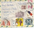 BRASIL CC SELLOS 1968 VUELO BRASIL JAPON VARIG ESCUDO TELECOMUNICACIONES - Brasil