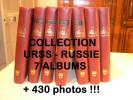 COLLECTION URSS RUSSIE - 7 albums (Lindner) - Plus de 430 photos !!!
