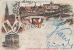 AK Ausstellungs-Postkarte Industrie Und Gewerbeausst. 1895 Strassburg I. E. Gelaufen 4.11.95 - Elsass