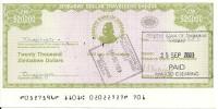 ZIMBABWE  20000 DOLLARS 2003 UNC P 18 - Zimbabwe