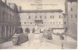FERRARA - Piazza Savonarola, Animata Con 2 Tram (non Comune), Viagg.1935 - SET-22-20 - Ferrara
