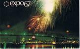 Montreal EXPO 67   Fireworks Acros Dolphin Lake - Montreal