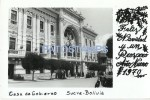 18386 BOLIVIA SUCRE LA PAZ CASA DE GOBIERNO PALACE GOVERNMENT POSTAL POSTCARD - Bolivie