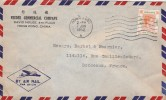 HONG KONG Yvert 154 Sur Lettre Par Avion  7/6/1952  Pour Bordeaux France - Hong Kong (...-1997)