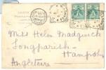 1905 Italy Pisa Pc To UK Micheldever Station Arrival Postmark. Pisa Ferrovia Square Circle Postmarks - Cartas