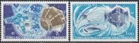TAAF 1977 Yvert Poste Aérienne 49 - 50 Neuf ** Cote (2015) 10.00 Euro Télémesures - Poste Aérienne