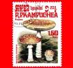 KAMPUCHEA - Cambogia - Usato - 1985 - Funghi - Mushrooms - Amanita Muscaria - 1.50 - Kampuchea