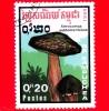 KAMPUCHEA - Cambogia - Usato - 1989 - Funghi - Mushrooms - Xerocomus Subtomentosus - 0.20 - Kampuchea