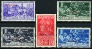 Tripolitania #38-42 Mint Hinged Ferrucci Issue From 1930 - Tripolitania