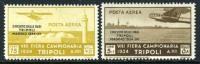 Tripolitania C39-40 Mint Hinged Air Mail Part Set From 1934 - Tripolitania