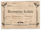 Ecole Communale Mixte  D´OIGNY--Récompense Scolaire Décernée à Germaine FOURMY Pour Travail En 1920-PUVIS DE CHAVANNES - Diplomas Y Calificaciones Escolares