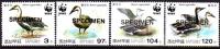 KOREA DPR (North) 2005 WWF Birds SPECIMEN SET:4    [spécimen,Muster,muestra,saggio] - W.W.F.