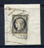 Rare N° 3 Sur Fragment Grand Cachet à Date D'Excideuil Du 2 Janvier 1849 - Signé Calves - 1849-1850 Cérès