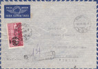 Roumanie - Lettre Recommandée De 1950 - Oblitération Bucaresti - Cachet De Transit - Exp Vers La France - Givet - Covers & Documents