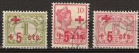 Ned Indie 1915 Red Cross, Rode Kruis NVPH 135-137 Luxe Gestempeld/ Cancelled - Nederlands-Indië