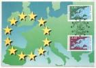 CM - Carte Maximum Card - 1991 - Conseil De L'Europe - YT Service 106 107 - Officials