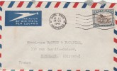 Afrique Du Sud Yvert 105 Animal Gnou Lettre Avion 24/7/1947  Pour Bordeaux France - South Africa (...-1961)