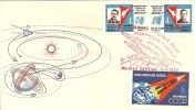 SPACE COVER: FDC VOSTOK -3 And 4 - STAMPS IMPERFORATED - Belarus