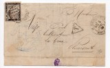 1885 - LETTRE Du COMMISSAIRE DE POLICE De SAINT POL DE LEON (FINISTERE) Pour PLOUESCAT Avec TIMBRE TAXE DUVAL N° 18 - Marcophilie (Lettres)