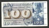 [CC] SVIZZERA / SUISSE / SWITZERLAND - NATIONAL BANK - 100 FRANCS / FRANKEN (1958) SAINT MARTIN - Svizzera