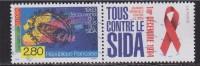 = Journée Mondiale De Lutte Contre Le Sida (reprise Du Timbre 2878 Europa) Avec Vignette Sida N°2916 Oblitéré - Errors & Oddities
