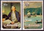 AITUTAKI Cook Islands 1979 SG #266-67 Compl.set VF Used Death Bicentenary Of Capt. Cook - Aitutaki
